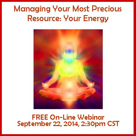 Managing Your Energy